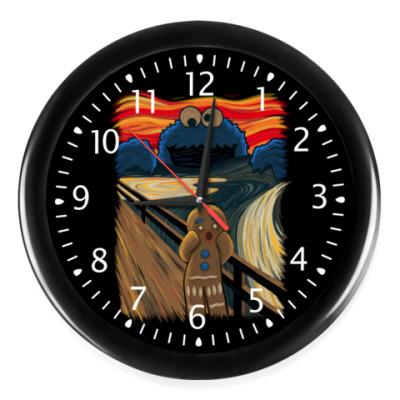 Настенные часы Cookie Monster The Scream
