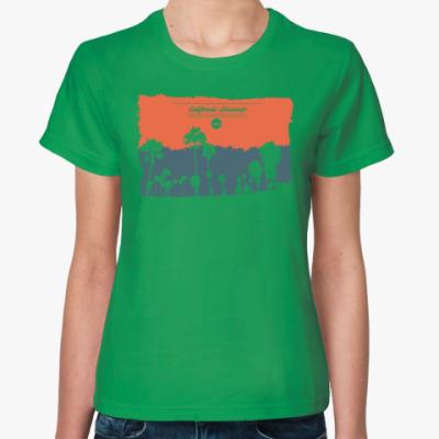 Женская футболка Город в Калифрнии (USA)
