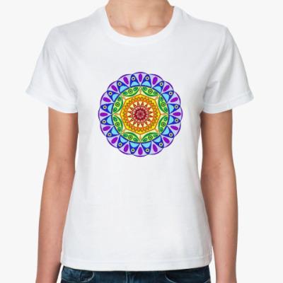 Классическая футболка Rainbow mandala