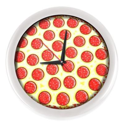 Настенные часы пицца