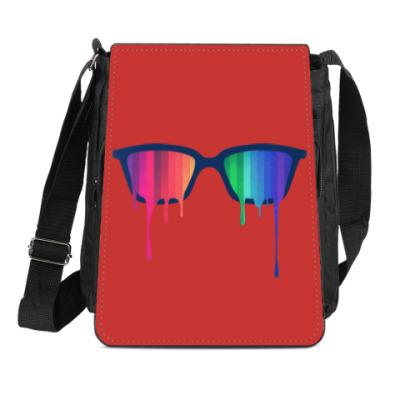 Сумка-планшет Хипстер: очки