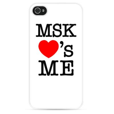 Чехол для iPhone MSK Loves Me