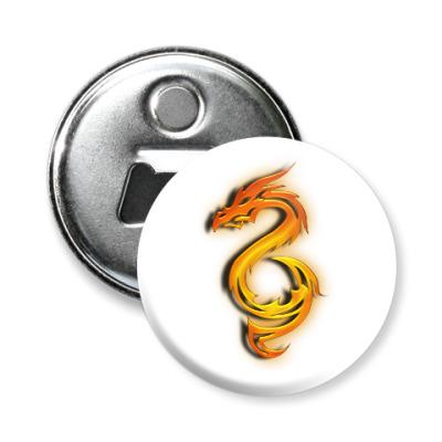 Магнит-открывашка Огненный дракон