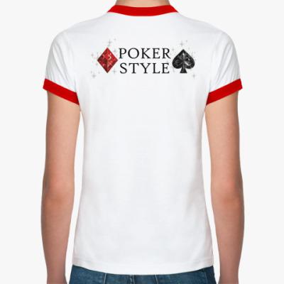 Женская футболка Ringer-T Poker style