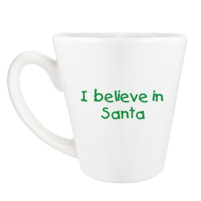 Чашка Латте I believe in Santa