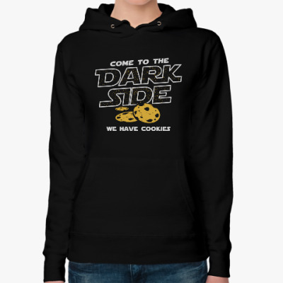 Женская толстовка худи Come to the Dark Side...