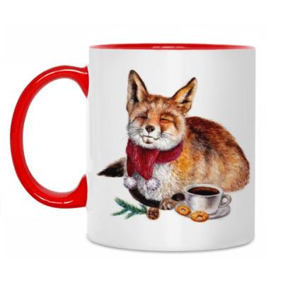 Кружка Рождественская лиса
