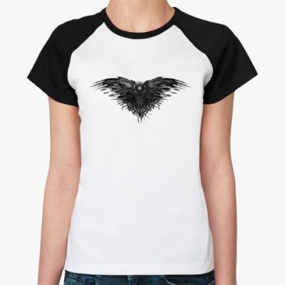 Женская футболка реглан Игра Престолов: Ворон