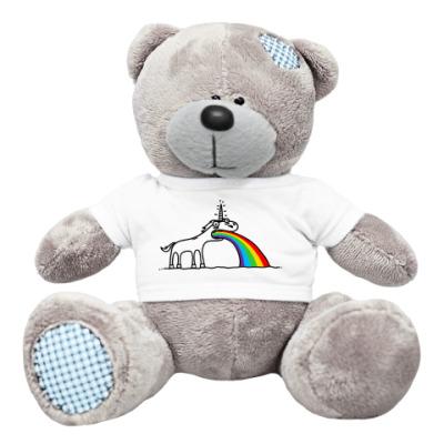 Плюшевый мишка Тедди Блюющий единорог