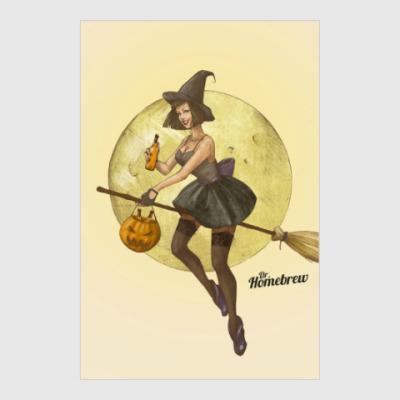 Постер Ведьма с пивом