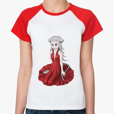 Женская футболка реглан Нэко-Луна