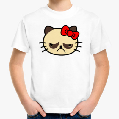 Детская футболка Grumpy Kitty