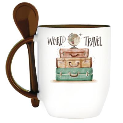 Кружка с ложкой Travel