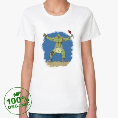 Женская футболка из органик-хлопка супермутант