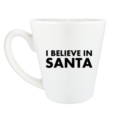 Чашка Латте I believe in Santa