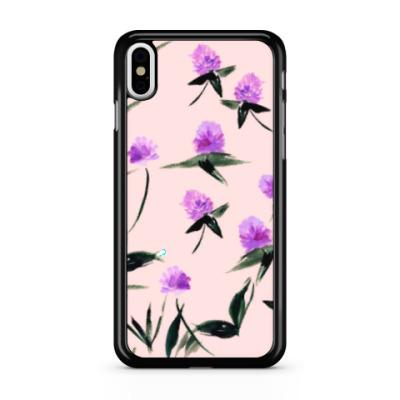 Чехол для iPhone клевер, дизайн цветы