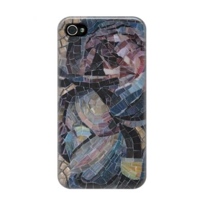 Чехол для iPhone 4/4s Мозаика Пионы
