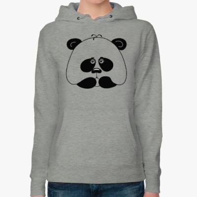 Женская толстовка худи Грустная панда