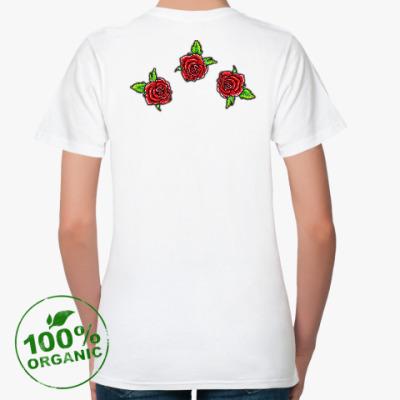 Женская футболка из органик-хлопка Летняя роза