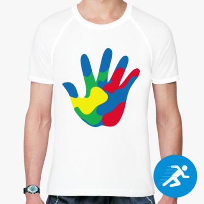 Спортивная футболка Отпечаток Руки
