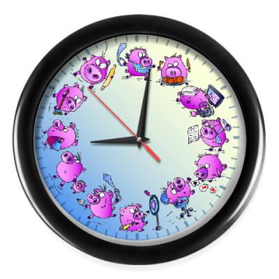 Настенные часы Обычный День Свиньи