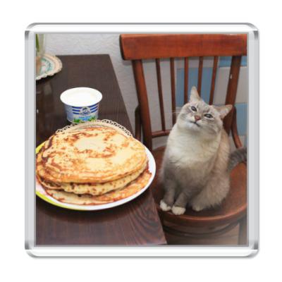 Магнит Довольный кот