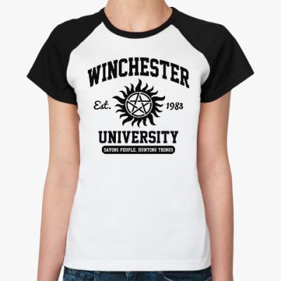 Женская футболка реглан Winchester University