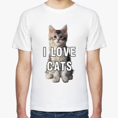 Футболка I LOVE CATS