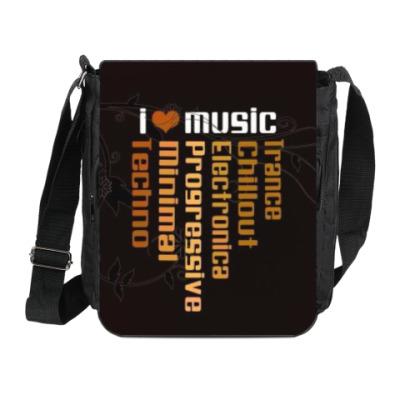Сумка на плечо (мини-планшет) музыка