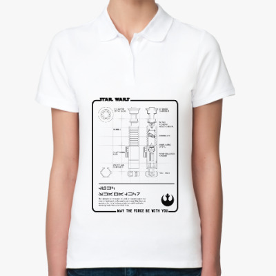 Женская рубашка поло Star wars (звёздные войны)