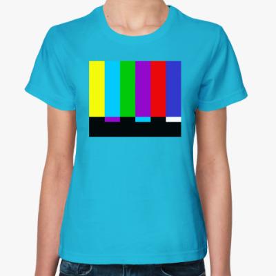 Женская футболка TV Test Pattern