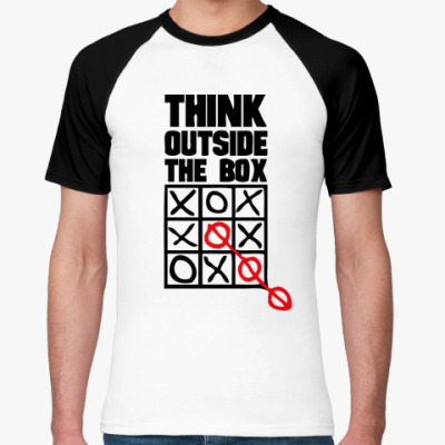 Футболка реглан  Think Outside The Box
