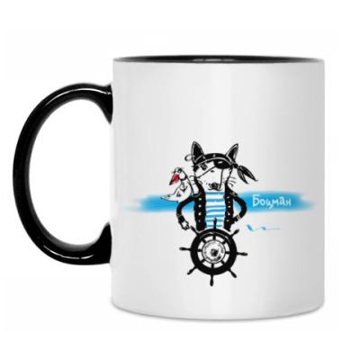 Кружка Морской волк с чайкой - пираты северных морей.