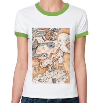 Женская футболка Ringer-T  Алиса в Стране чудес