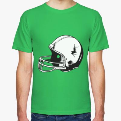 Футболка футбольный шлем