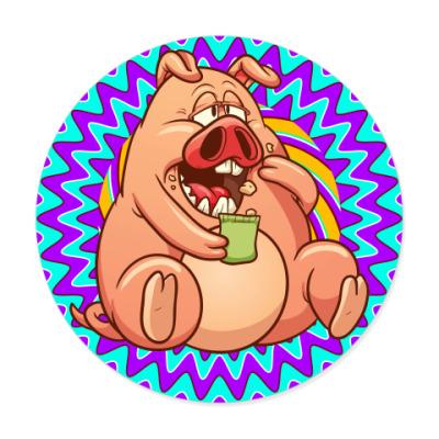 Виниловые наклейки Fat Pig