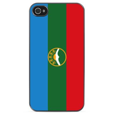Чехол для iPhone Флаг Карачаево-Черкесии