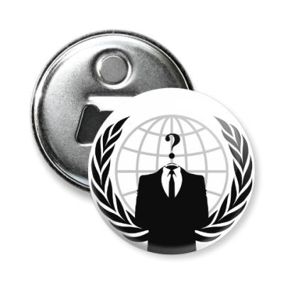 Магнит-открывашка Анонимус