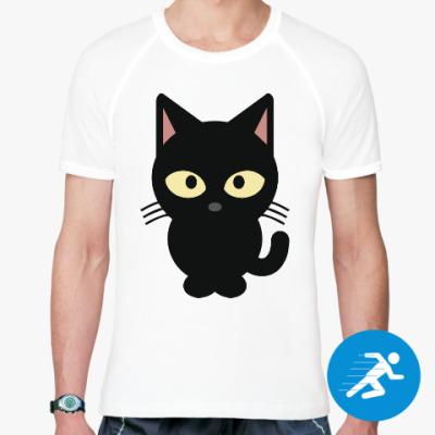 Спортивная футболка Черный Котик