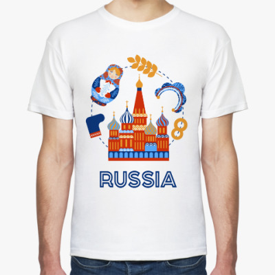 Футболка Russia, Россия