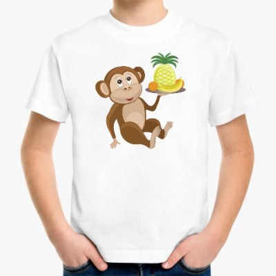 Детская футболка Обезьянка с фруктами