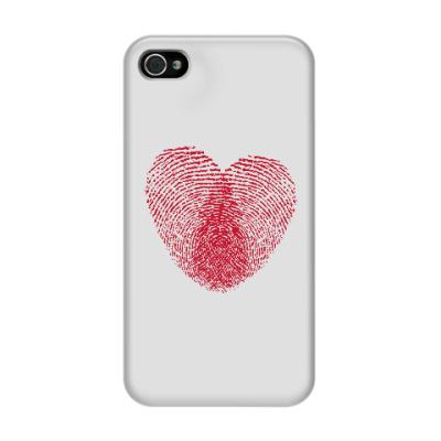 Чехол для iPhone 4/4s Отпечатки Любви