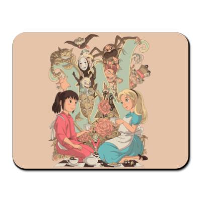 Коврик для мыши Wonderland Alice and Chihiro
