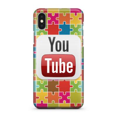 Чехол для iPhone X YouTube