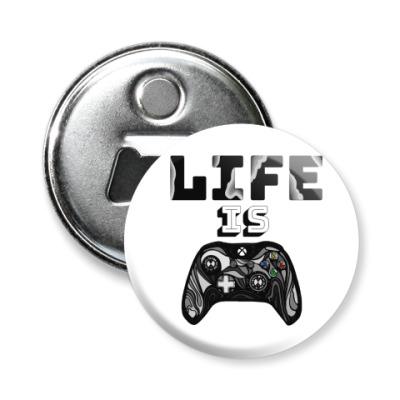 Магнит-открывашка Life is a game