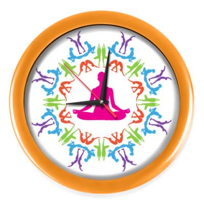 Настенные часы Йога
