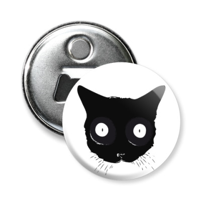 Магнит-открывашка Мордочка кошки