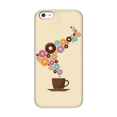 Чехол для iPhone 5c Кофе с пончиками