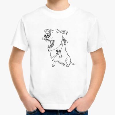 Детская футболка  Собака (зевающая, улыбающаяся или поющая)
