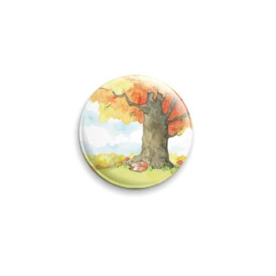 Значок 25мм Осенний лес
